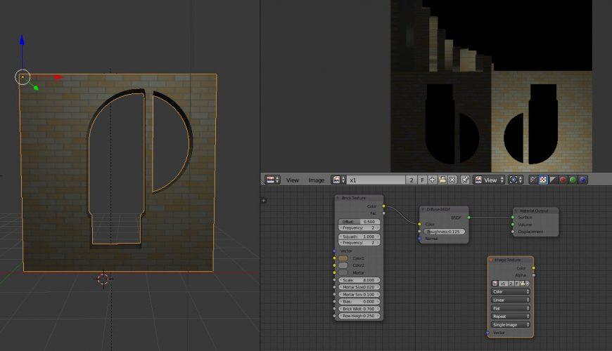 Baking my procedural texture    #Blender